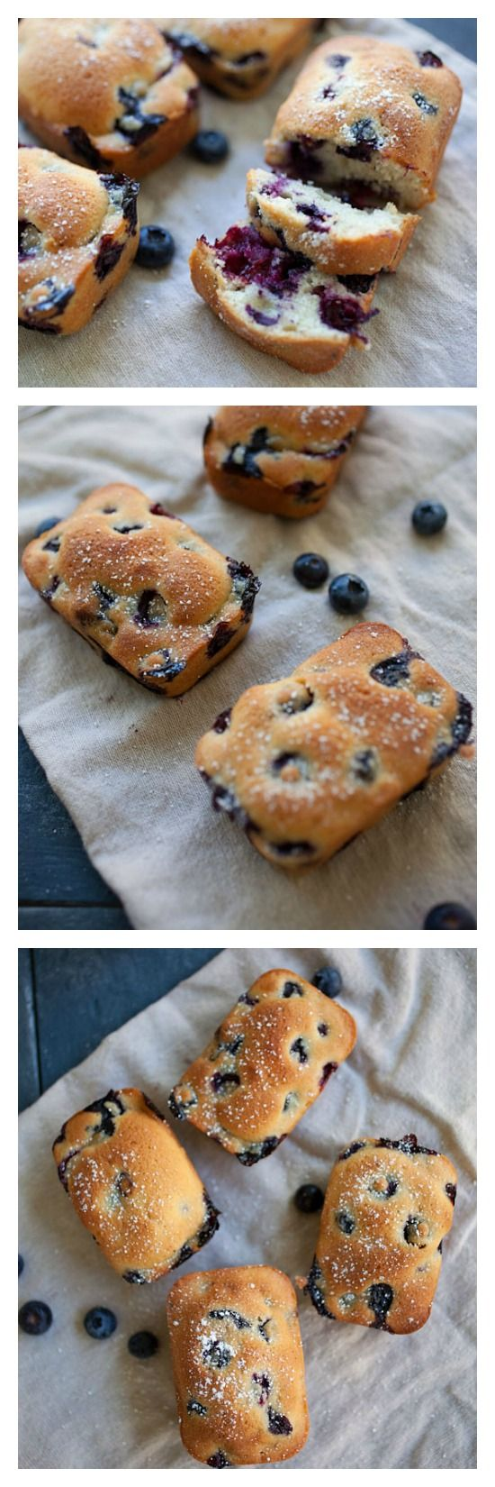 Mini Blueberry Cake. Everything tastes so much better when they are mini-me size. This yummy blueberry cake is perfect anytime of the day! | rasamalaysia.com