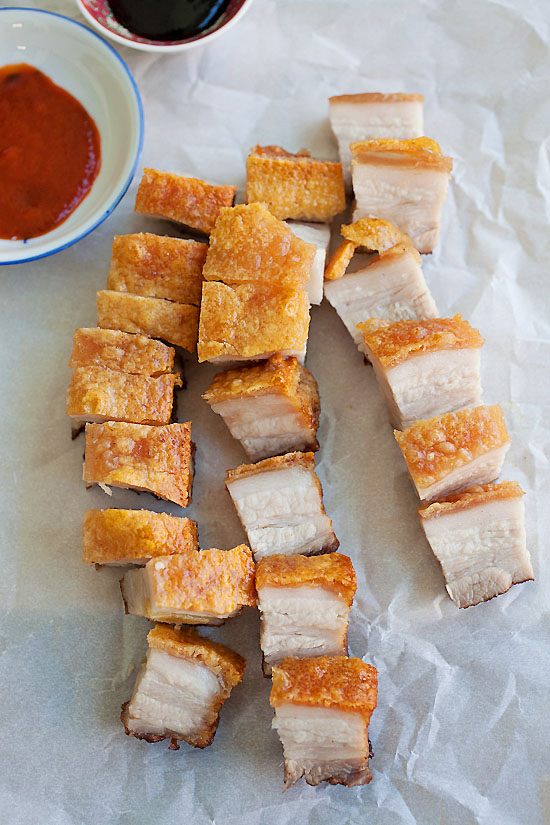 Easy Chinese Roast Pork Recipe that is better than Chinatown and you can make it at home | rasamalaysia.com