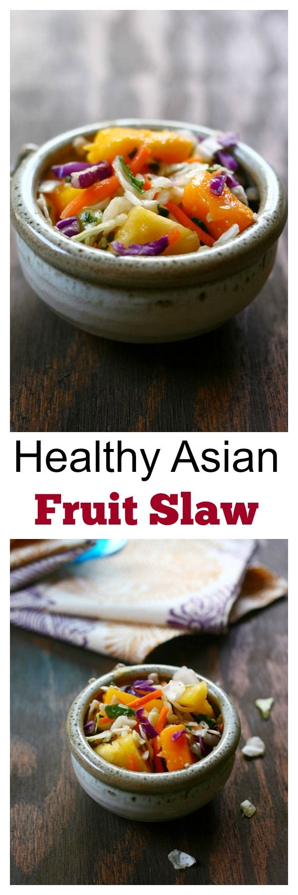 Asian Fruit Slaw - healthy, low-calorie, and delicious Asian fruit slaw recipe that make you feel good every day!! | rasamalaysia.com