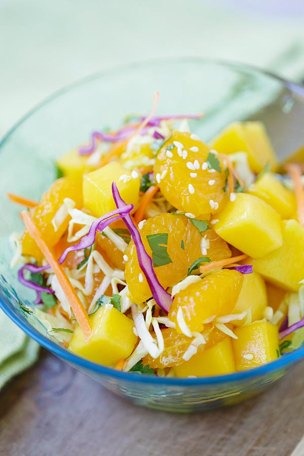Easy, healthy, low-calorie, and delicious Asian fruit salad recipe.