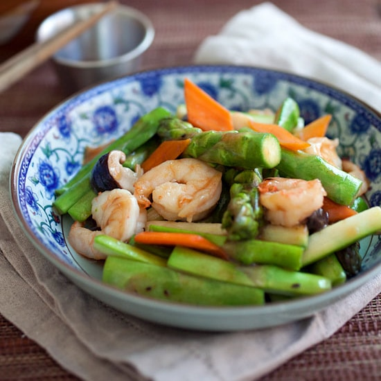 Stir-fry Asparagus with Shrimp