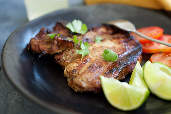 The best grilled pork chops recipe.