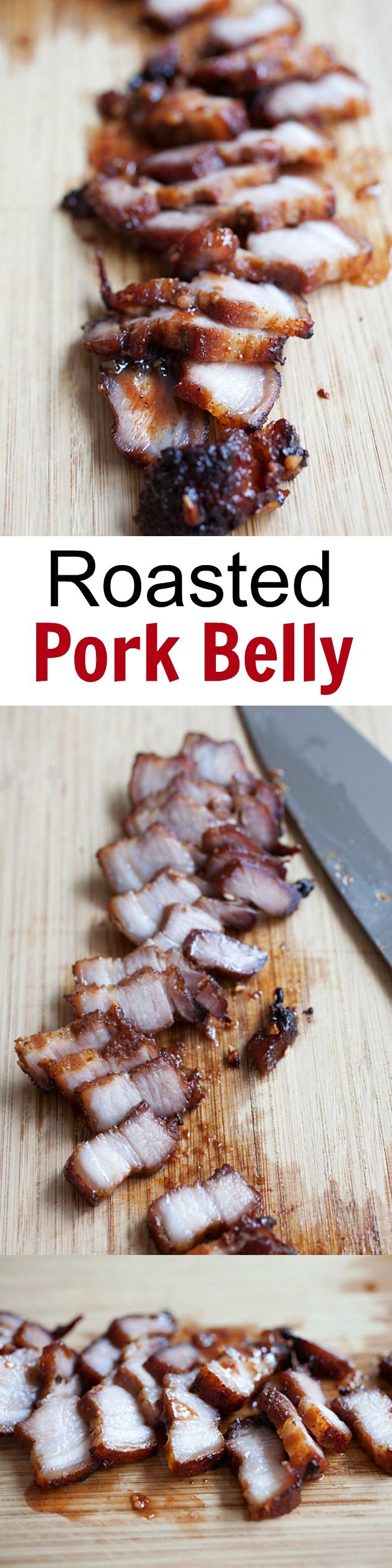 Char Siu - the best and easiest Chinese BBQ pork belly recipe ever. This homemade Char Siu is sticky sweet and savory and a zillion times better than Chinatown | rasamalaysia.com