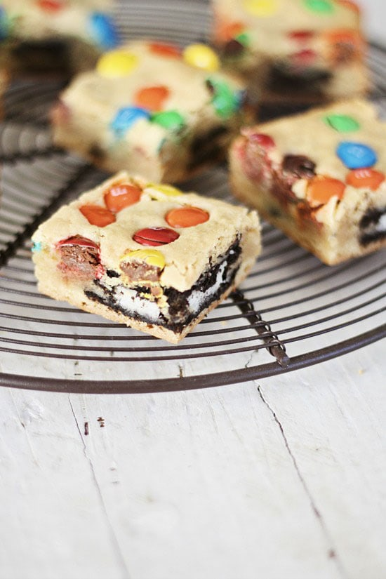 Easy homemade Oreo and M&M's cookies.