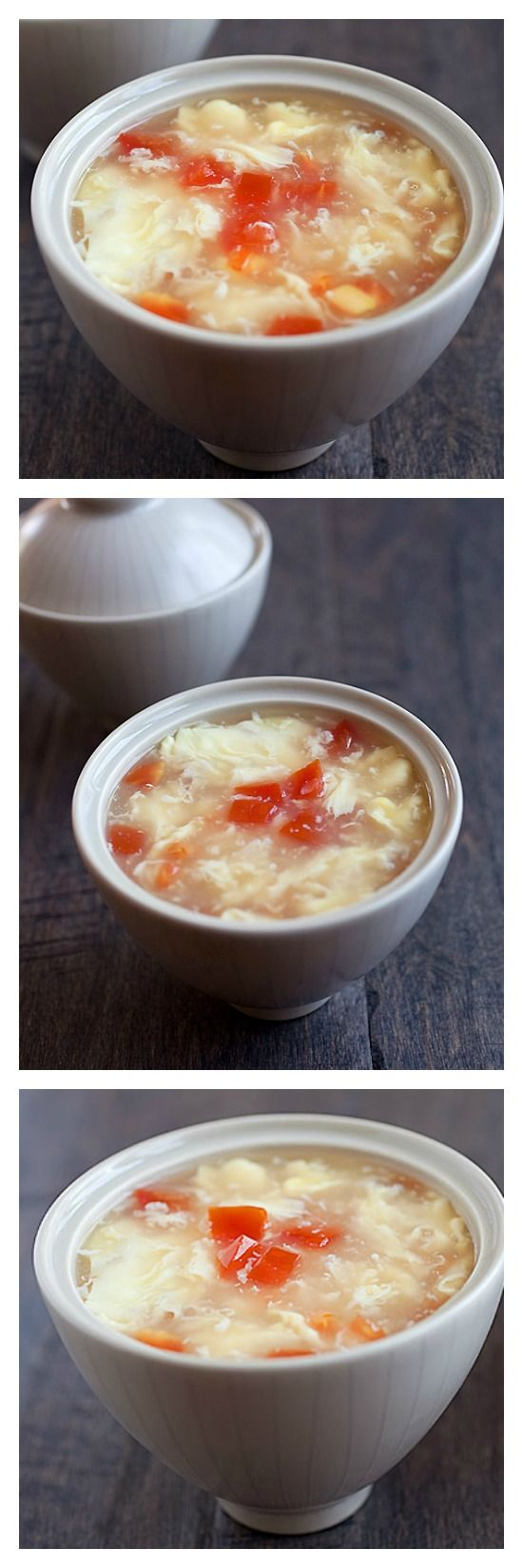 Egg drop soup - easiest and best Chinese egg drop soup recipe you'll find online. Takes 10 minutes, delicious and much better than takeout | rasamalaysia.com