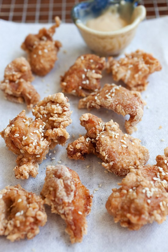 Crispy and Crunchy Japanese fried chicken recipe with mayo miso ...