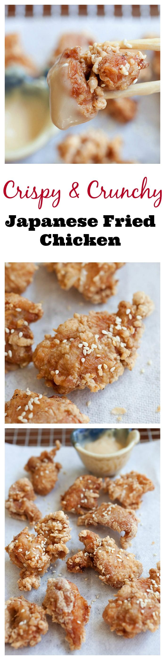 Crispy and Crunchy Japanese fried chicken recipe with mayo miso dipping sauce just like your favorite Japanese restaurants   rasamalaysia.com