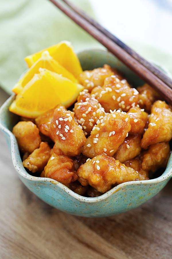 Orange Chicken and Homemade Sauce