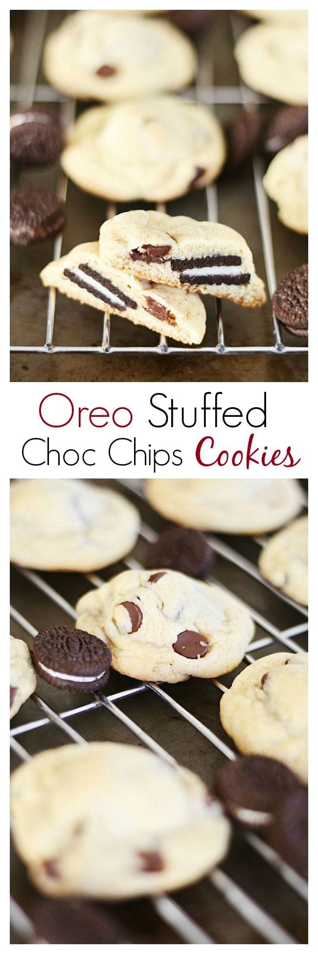 Oreo Stuffed Chocolate Chip Cookies | Easy Delicious Recipes