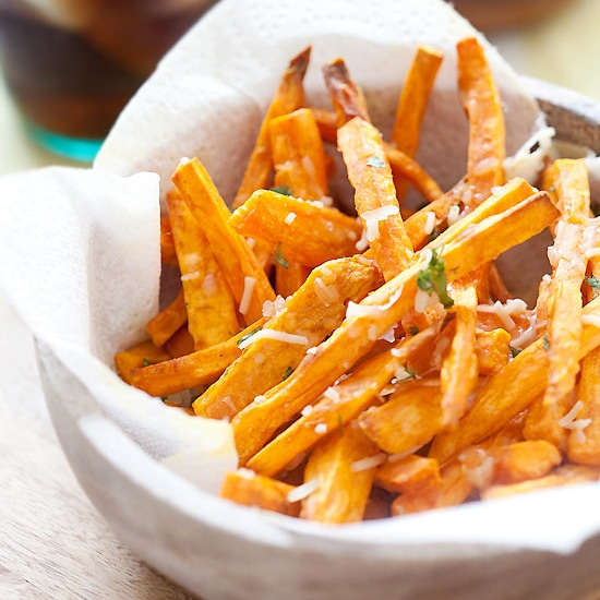 Parmesan Sweet Potato Fries