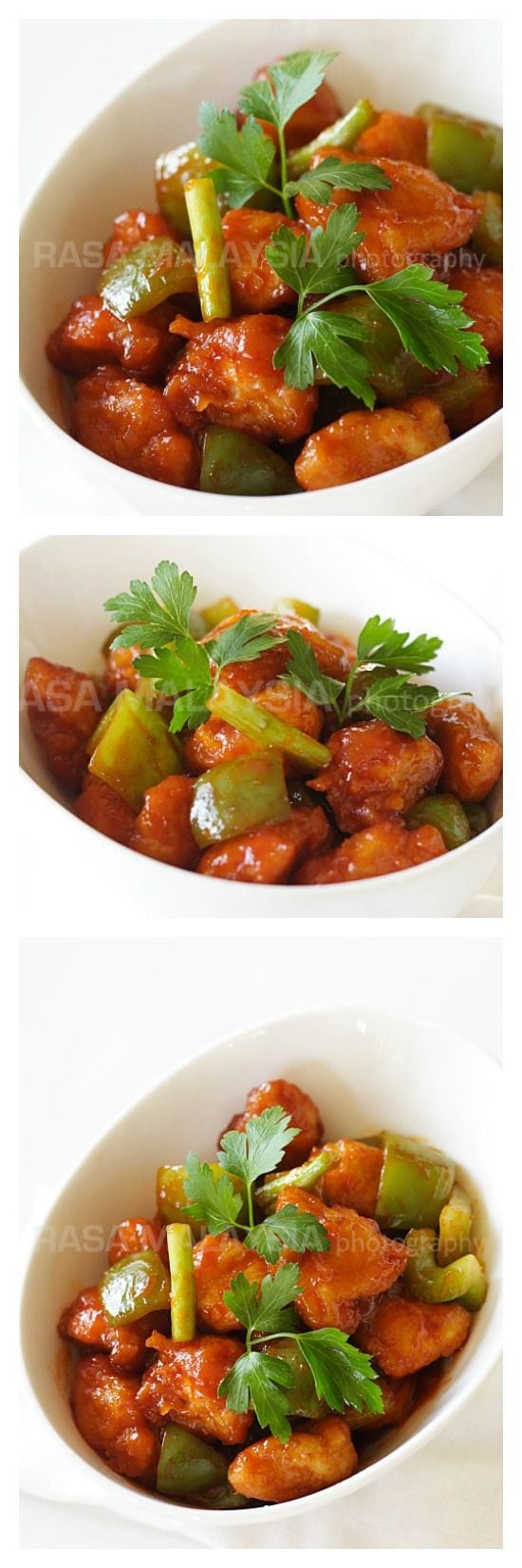 Sweet and Sour Chicken Recipe. The best and easiest sweet and sour chicken recipe that anyone can make at home. Much healthier and better than takeout | rasamalaysia.com