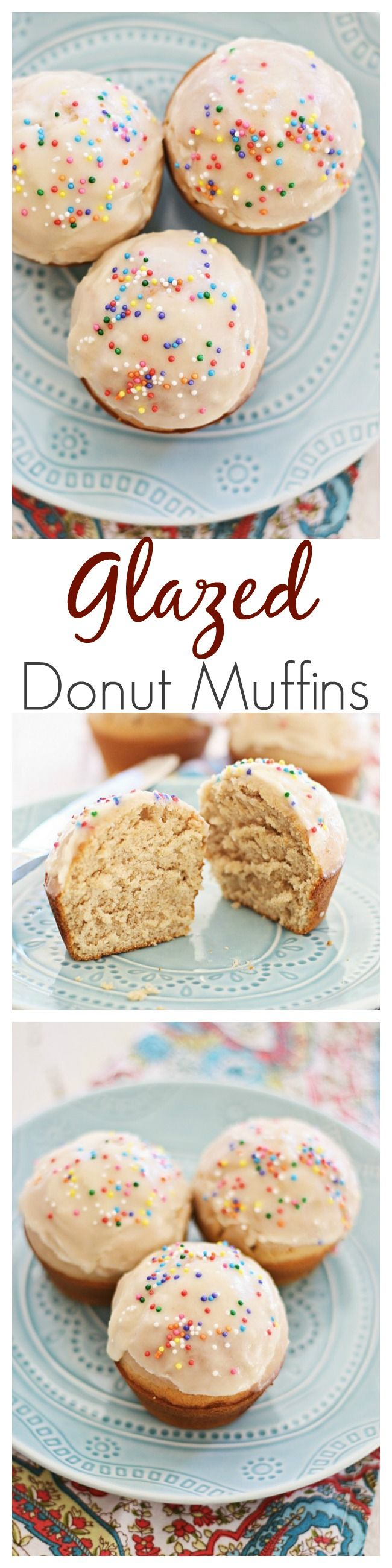 Glazed Doughnut Muffins - combining two favorites into one treat: doughnut, muffins, and glazed with sugar. Sinfully good and you'll want more | rasamalaysia.com