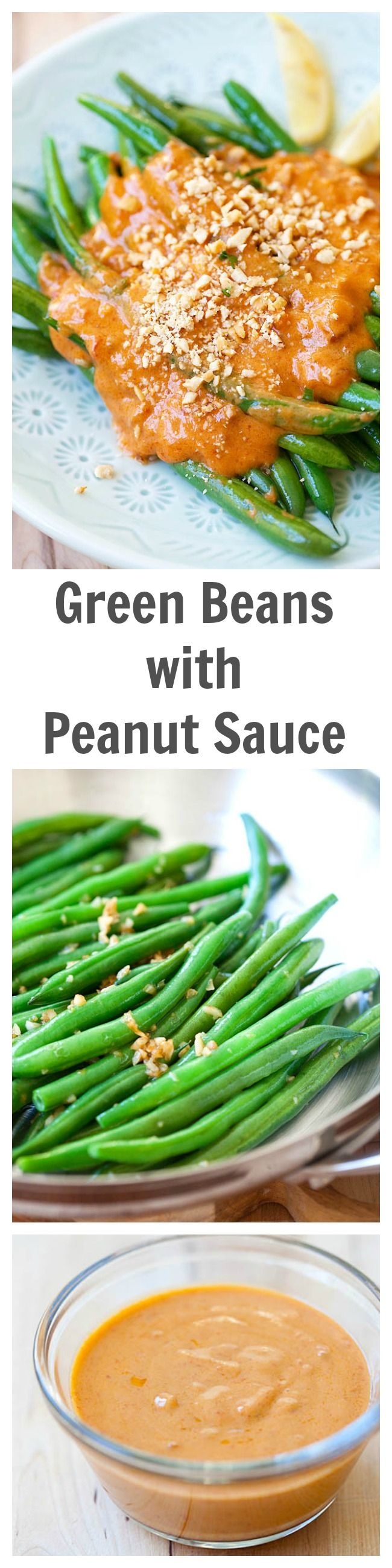 peanut sauce. Saute green beans with garlic and top them with spicy ...
