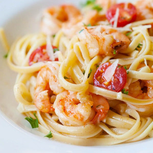 shrimp scampi linguine