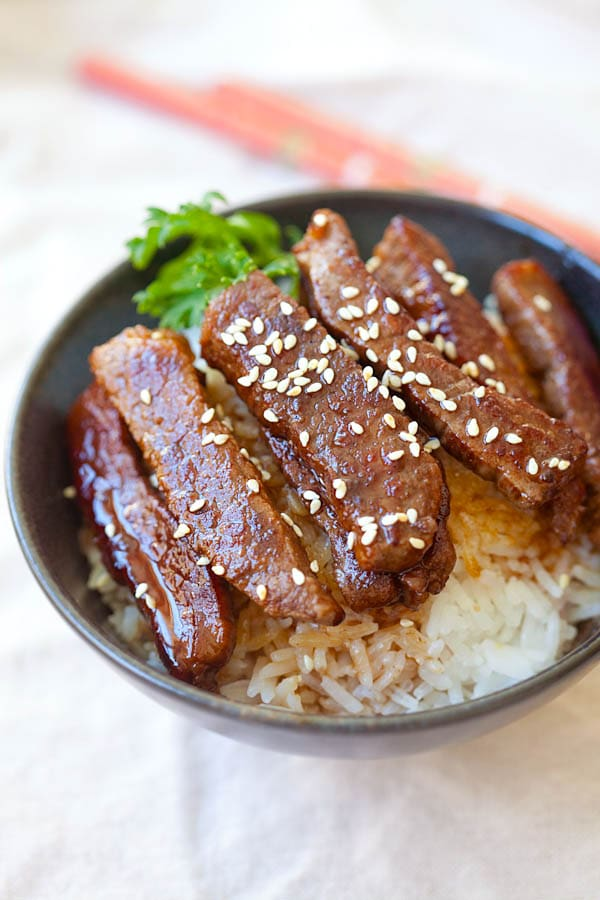 Beef Teriyaki - BEST and EASIEST beef teriyaki recipe that takes 15 ...