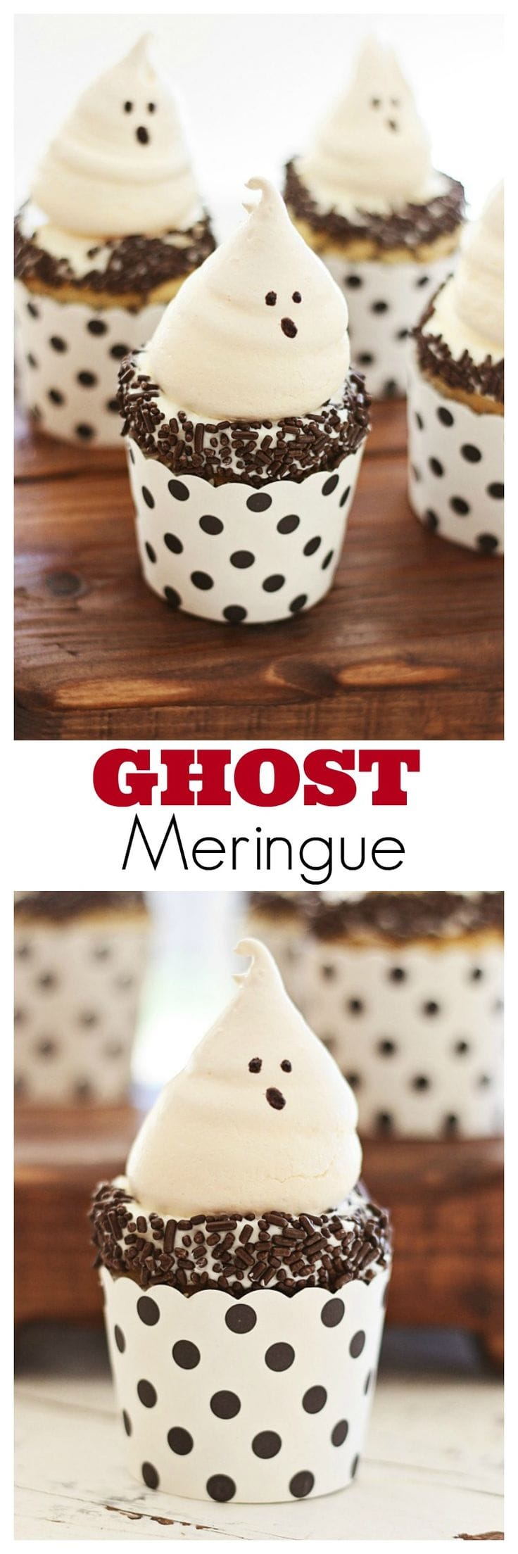 Ghost Meringue – the most amazing and cutest cookies for Halloween, sure to please both kids & adults with its great taste | rasamalaysia.com