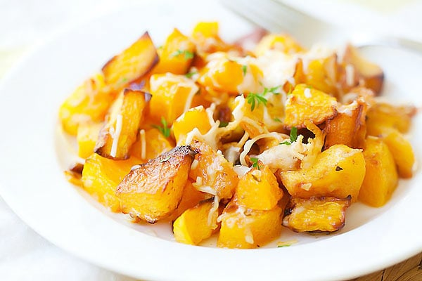 Garlic Parmesan Roasted Butternut Squash | Easy Delicious Recipes ...
