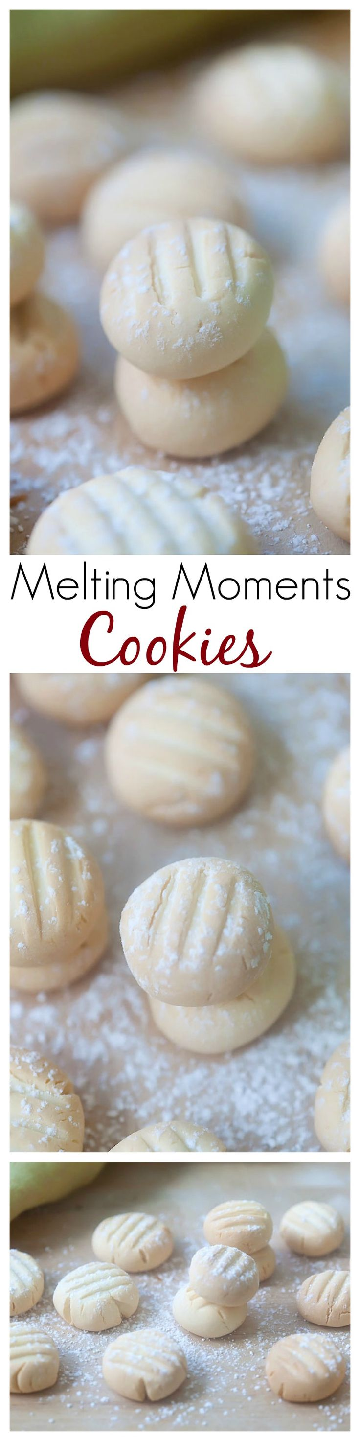 Melting Moments Cookies – the most crumbly, buttery, and delicious cookies ever. So easy to make but yields the best melting moments cookies   rasamalaysia.com
