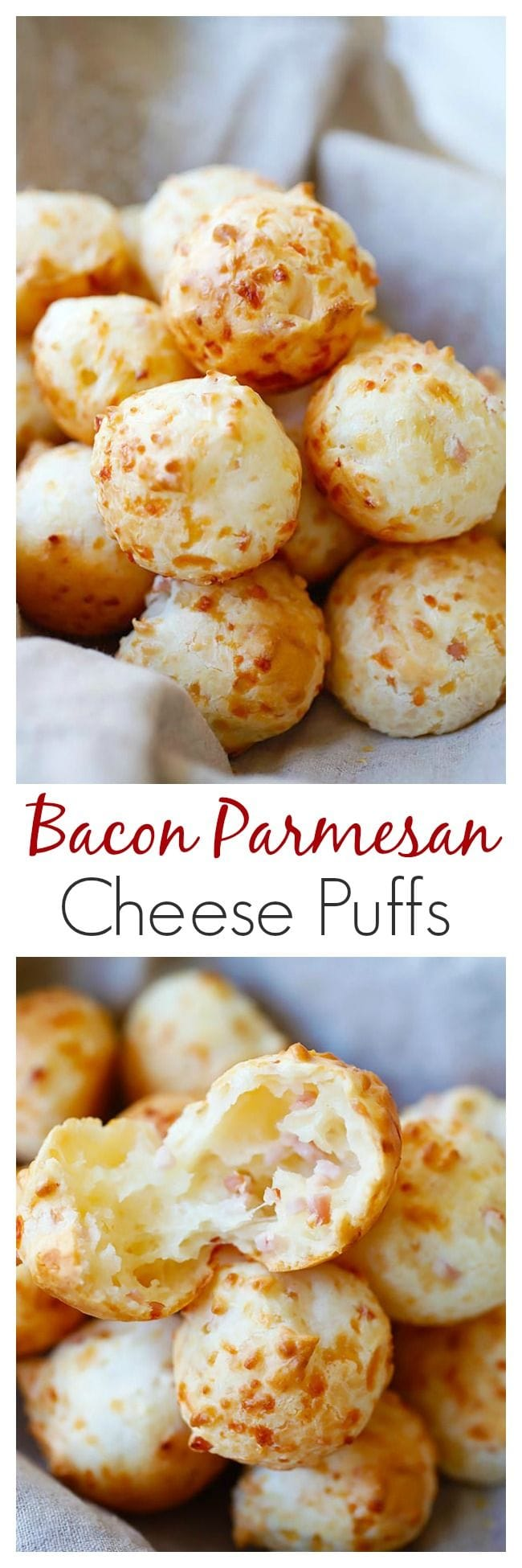 Bacon Parmesan Gougeres (Cheese Puffs) | Easy Delicious Recipes