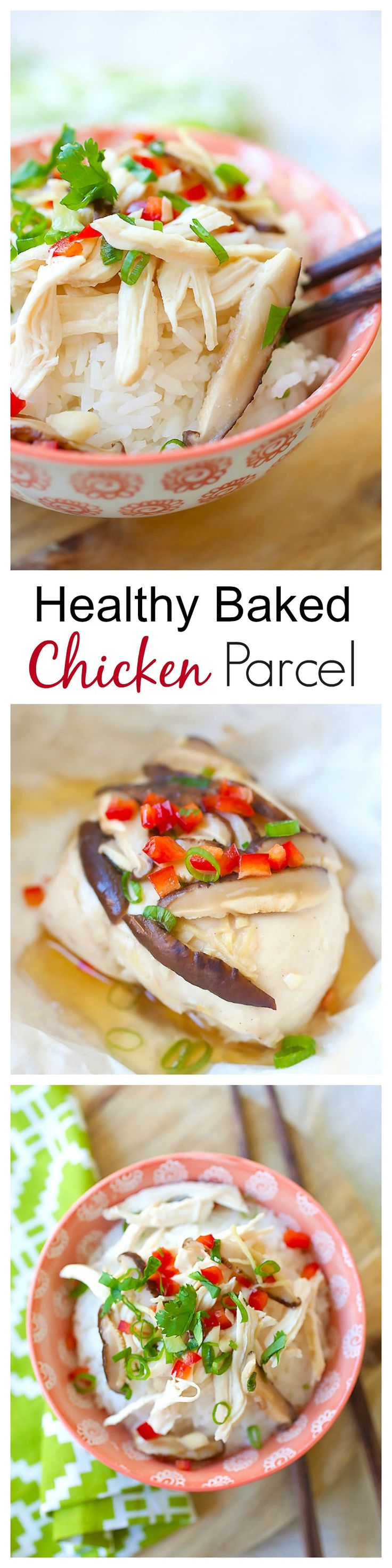 Chinese Chicken Parcels – easy and healthy chicken with soy sauce, ginger and garlic. Wrap the chicken with aluminum foil, bake and serve with rice   rasamalaysia.com