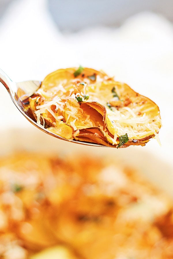Sweet Potato And Sage-Butter Casserole Recipe — Dishmaps