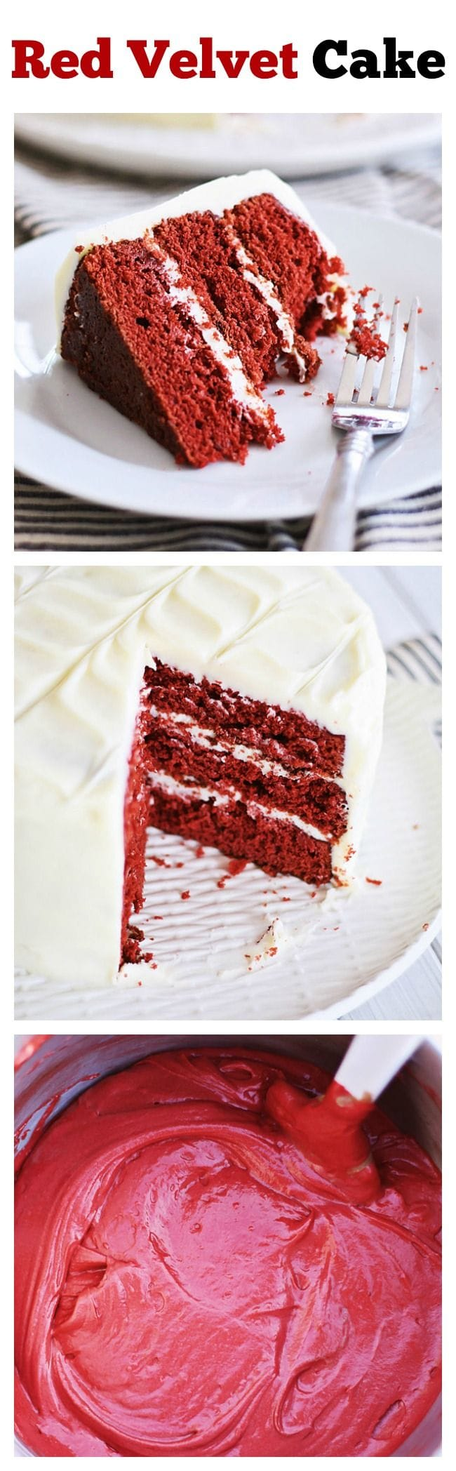 Red Velvet Cake – delicious cake loaded with cream cheese frosting, perfect for anytime of the year but especially festive for the holidays season. Get the easy recipe | rasamalaysia.com