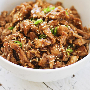 Honey Sesame Pulled Pork