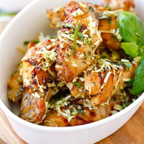 baked parmesan garlic chicken wings