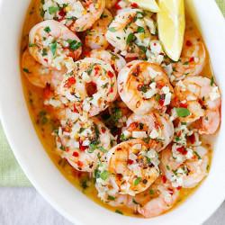 Roasted Shrimp Scampi