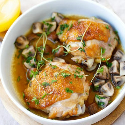 chicken with sauteed mushroom