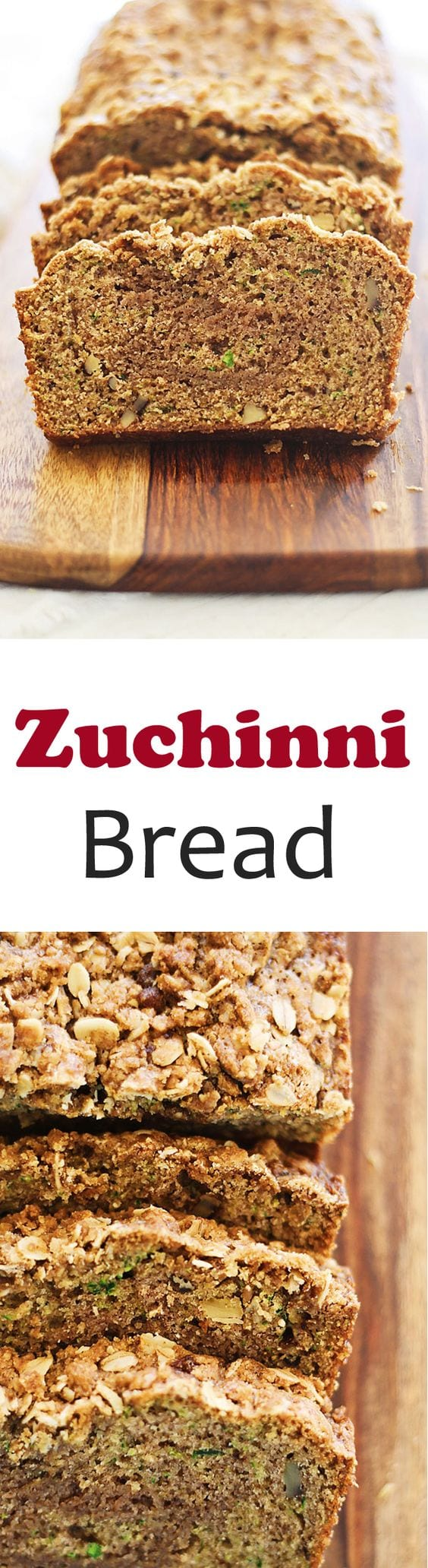 Zucchini Bread – easy, moist, and the BEST zucchini bread loaded with walnuts and crumb topping of cinnamon and butter. Quick and fool proof recipe! | rasamalaysia.com