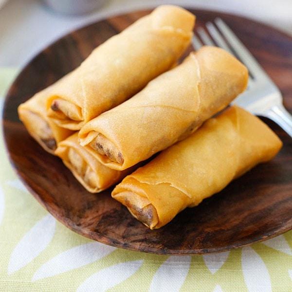 Fried Spring Rolls Super Crispy Recipe Rasa Malaysia