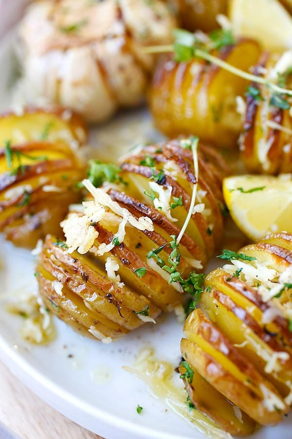 Easy Parmesan Roasted Potatoes.