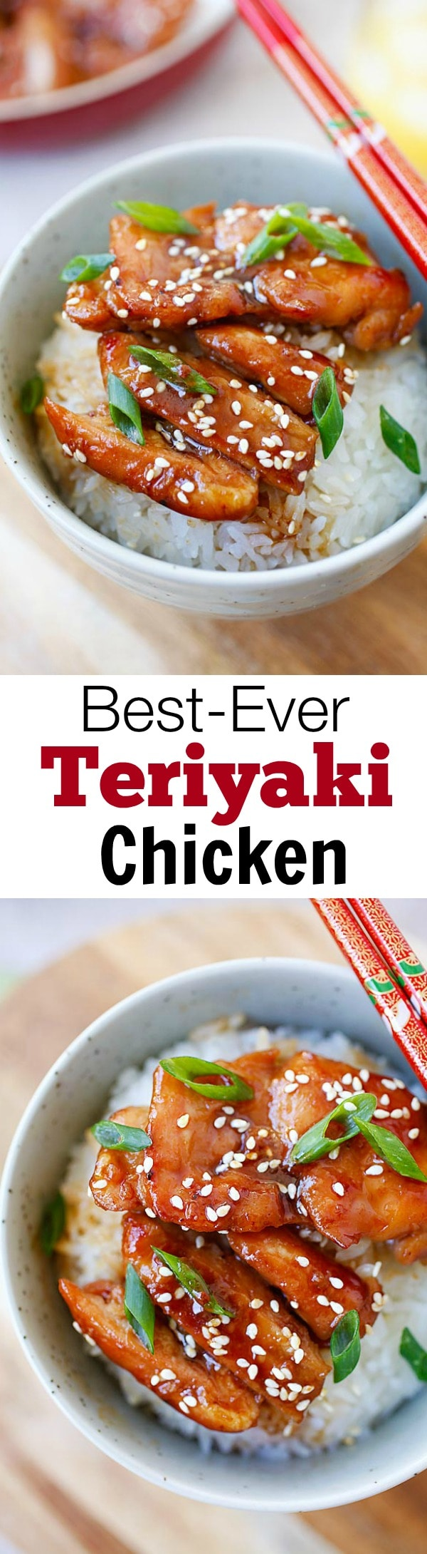 Easy Teriyaki Chicken  - the most popular Japanese chicken dish. Learn how to make the best-ever chicken teriyaki with only four ingredients, plus step-by-step cooking video | rasamalaysia.com