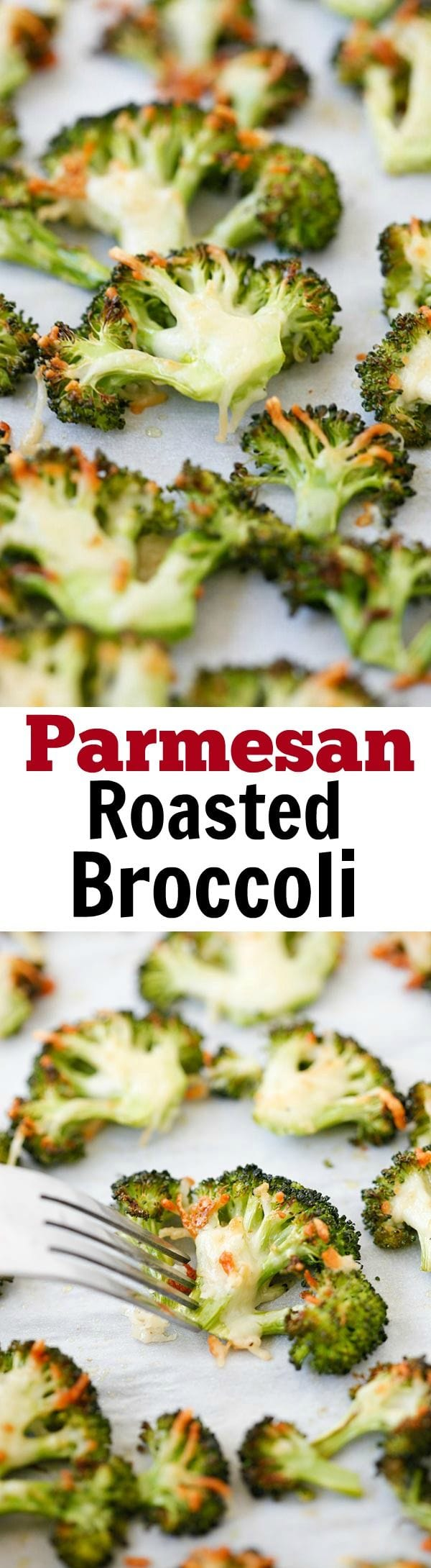Parmesan Roasted Broccoli – easy delicious roasted broccoli recipe, with Parmesan cheese. 5 mins prep and 20 mins to dinner table | rasamalaysia.com
