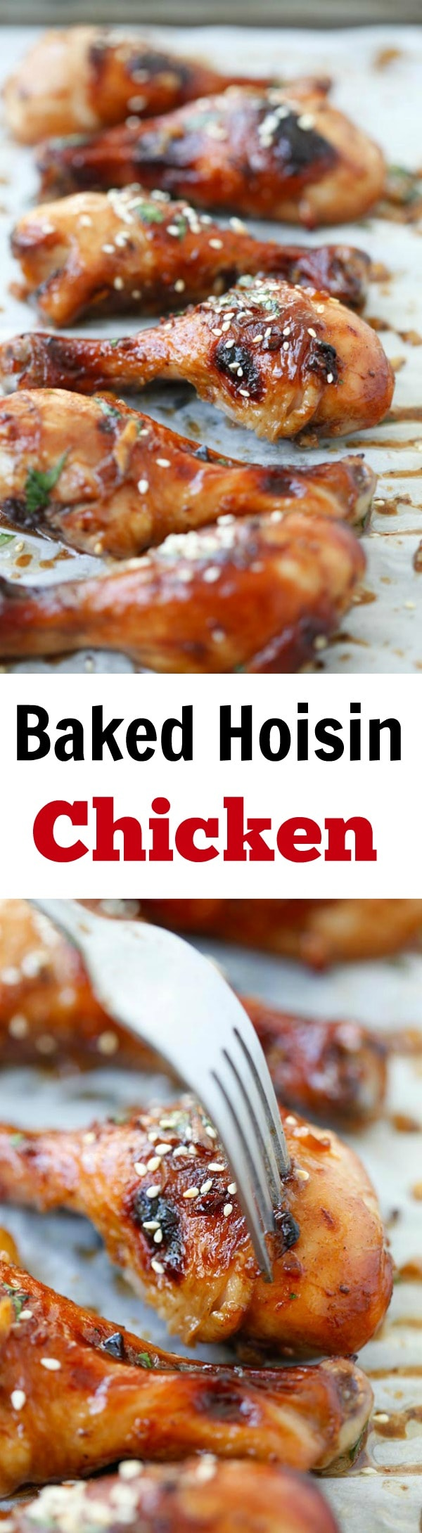 Baked Hoisin Chicken – moist, juicy and delicious chicken marinated with Hoisin sauce. Easy recipe that anyone can make at home | rasamalaysia.com