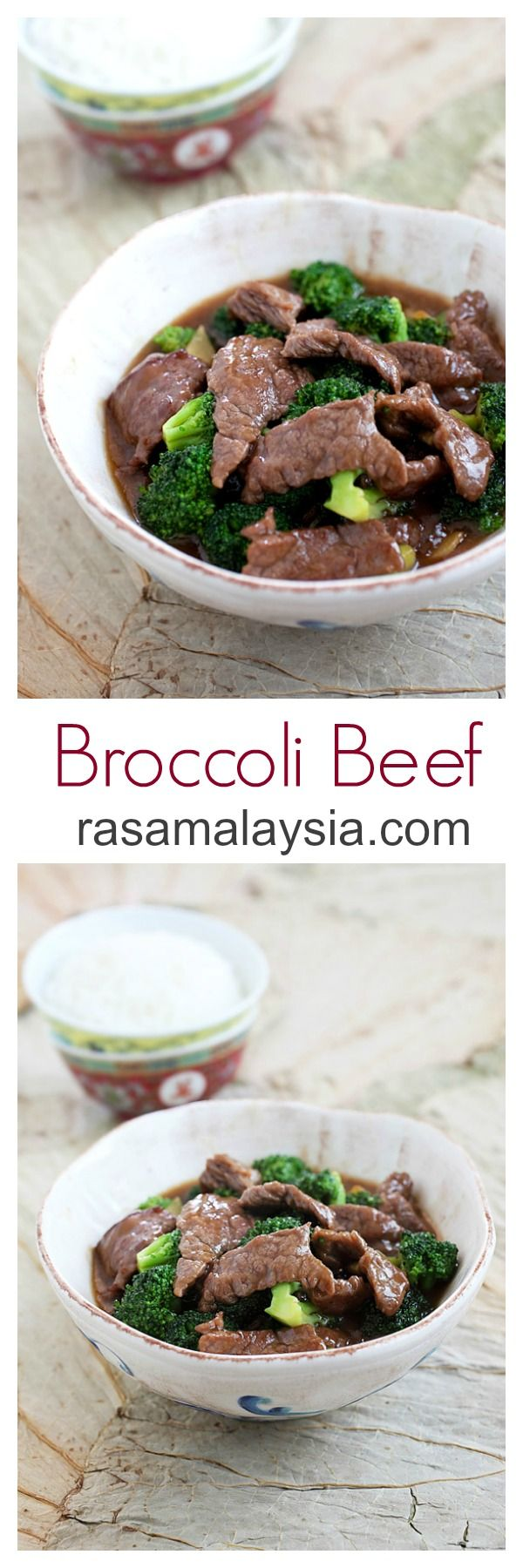 Broccoli Beef - silky, tender beef and healthy broccoli in a super yummy Chinese brown sauce, 15 mins to make and dinner is ready! | rasamalaysia.com