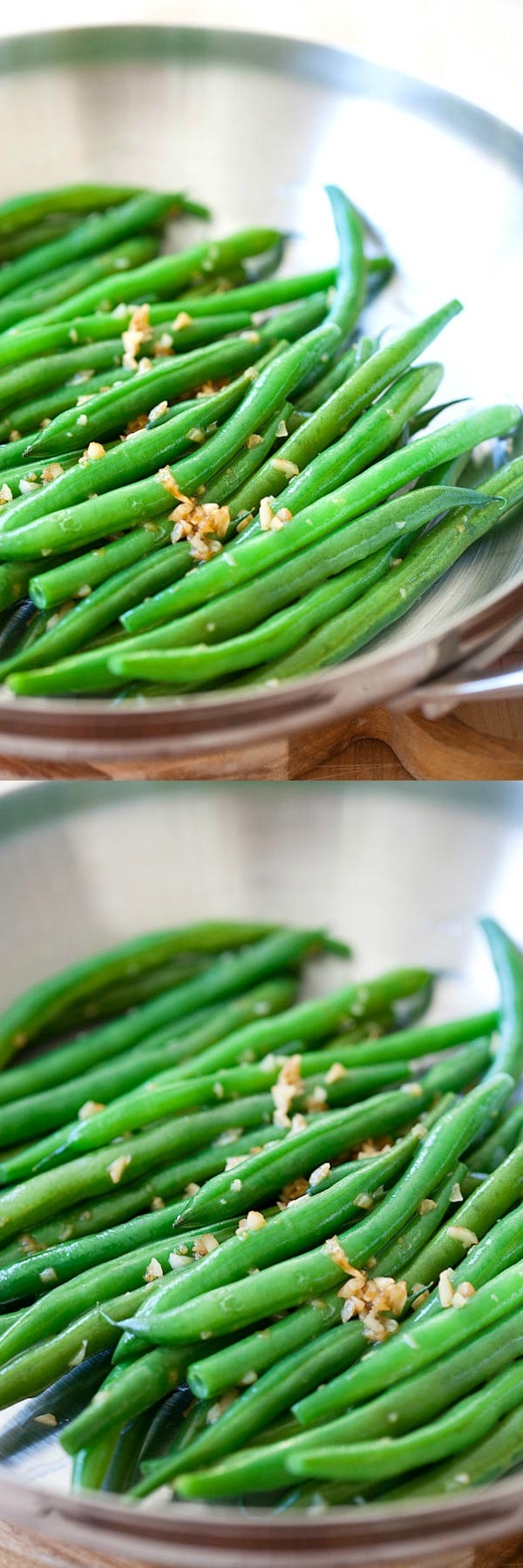 Garlic Green Beans - 10-min stir-fry green beans recipe with garlic. Super healthy, easy and budget-friendly for the entire family.  rasamalaysia.com