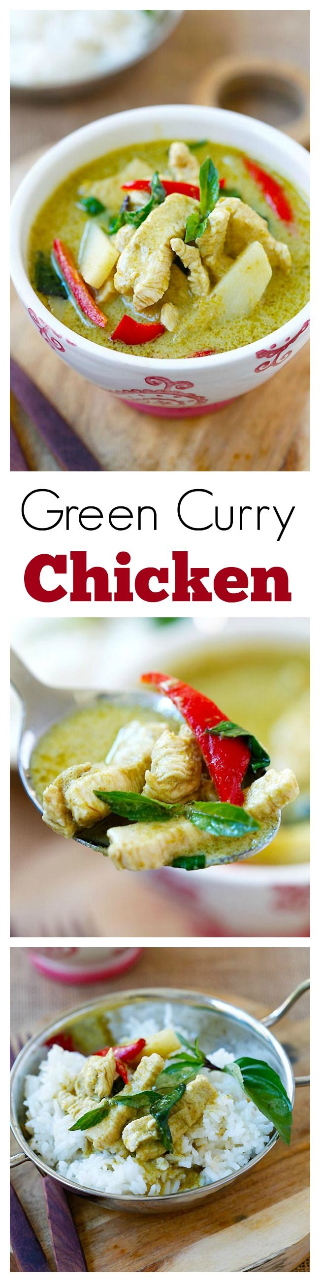 Green Curry – delicious and easy green curry with chicken. Making green curry is so easy and takes only 20 min and much cheaper than eating out.
