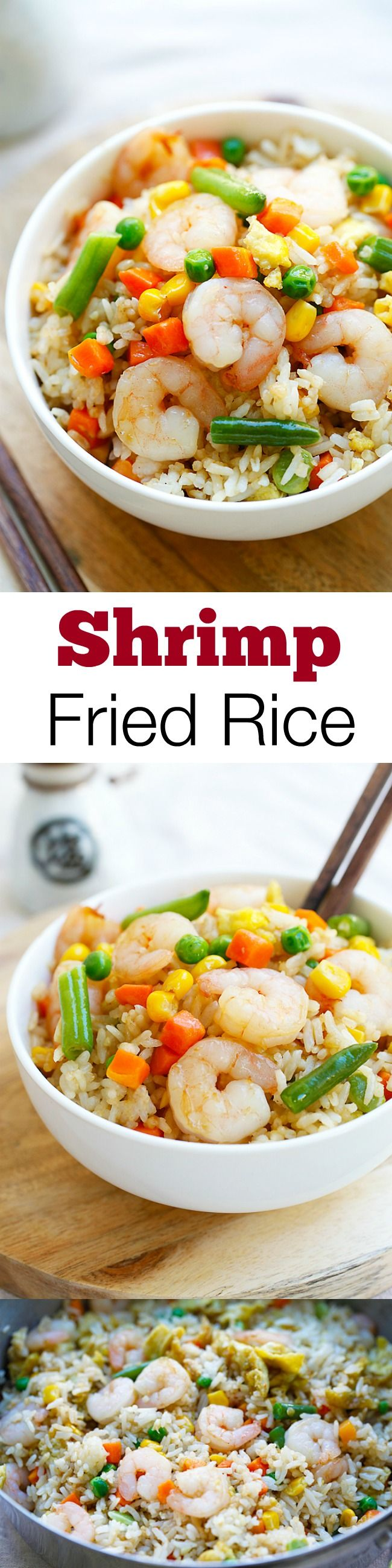Shrimp fried rice – the easiest shrimp fried rice recipe, takes only 20 mins from prep to dinner table. Healthier and a zillion times better than takeout   rasamalaysia.com