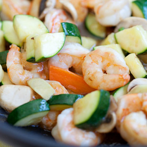 Zucchini and Shrimp Stir-Fry