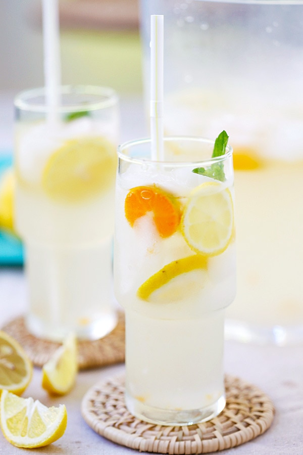 Amazing and refreshing lemonade made with coconut water and fresh lemon juice.
