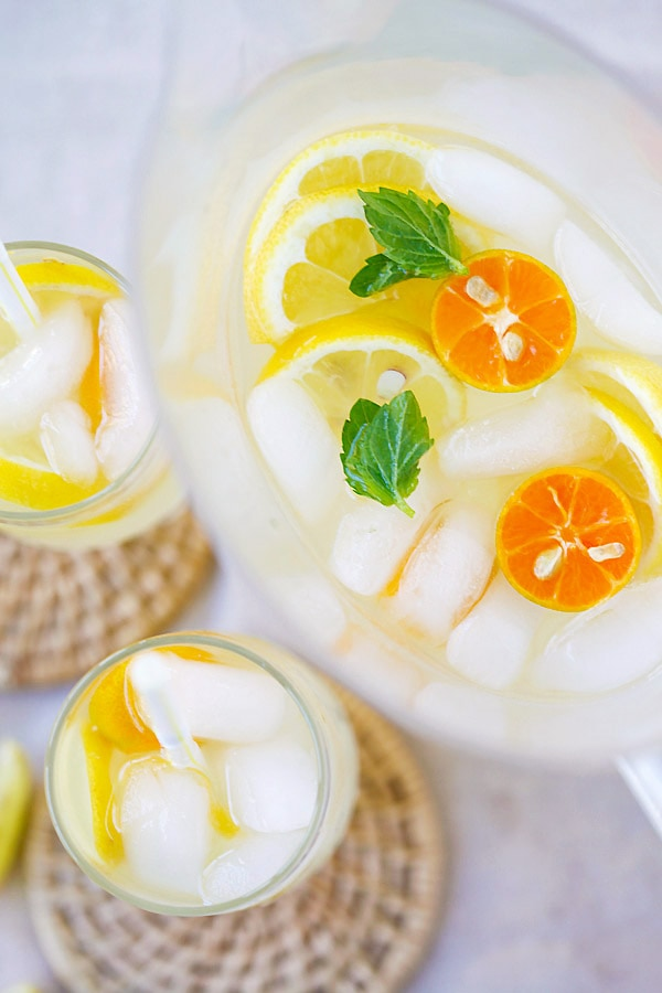 Lemonade coconut juice ready to serve.
