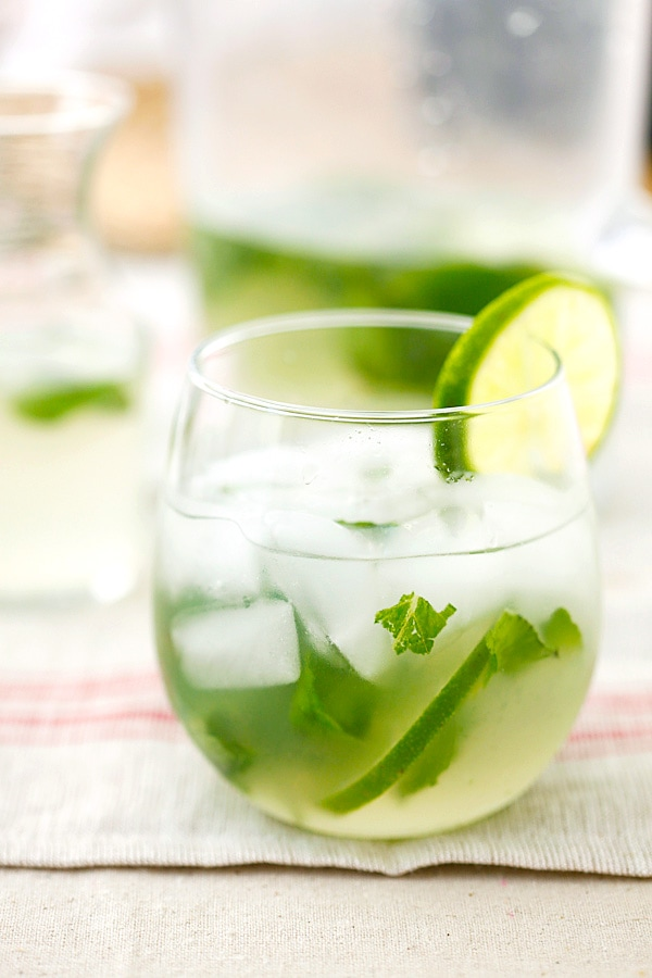Easy, healthy and refreshing coconut mojito recipe.