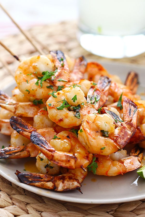 Shrimp Kebab - crazy delicious shrimp kebab with honey Sriracha butter ...