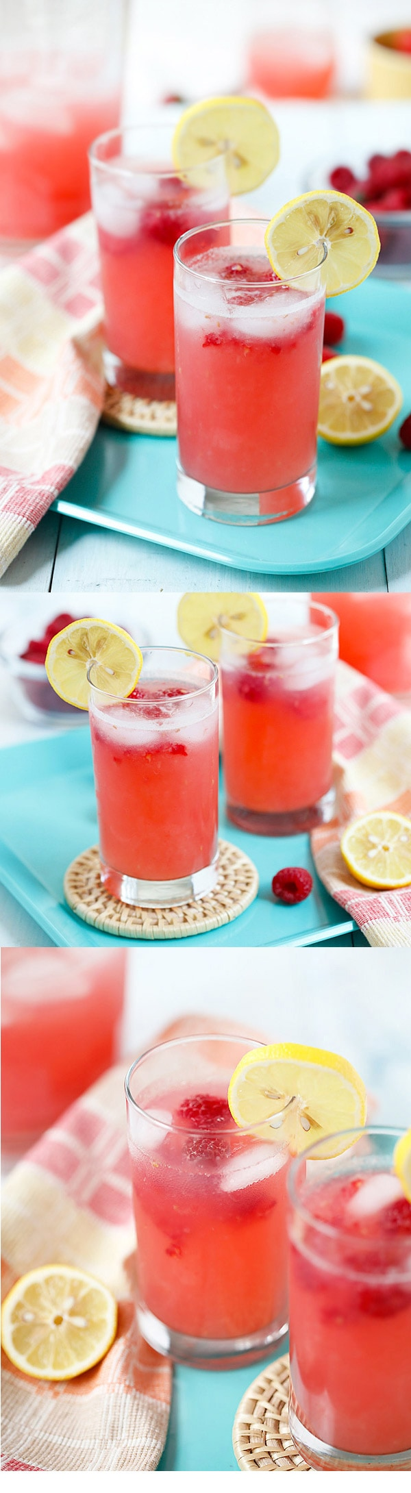 Raspberry Lemonade - sweet, refreshing and thirst-quenching lemonade with raspberry. So easy to make and takes only 10 minutes to make!   rasamalaysia.com