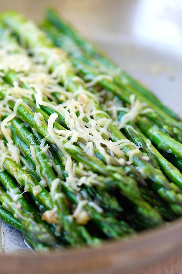 Healthy homemade Parmesan Asparagus.