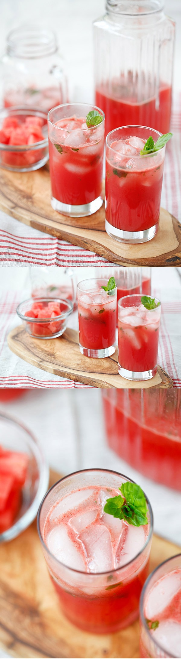 Watermelon-Tequila Cocktail - refreshing and amazing cocktail recipe with fresh watermelon, tequila, lime juice and mint, takes 15 mins   rasamalaysia.com