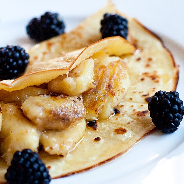 Banana Crepes - simple and delicious recipe for the best, sweet and fluffy banana crepe recipe ever. 20 mins and breakfast is ready for the family! | rasamalaysia.com