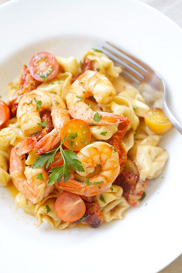 15 Budget-Friendly Recipes That Won't Leave You Hungry - Shrimp & Sun-Dried Tomato Tortellini